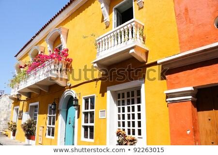 типичный колониальный дома старые город Колумбия Сток-фото © xura