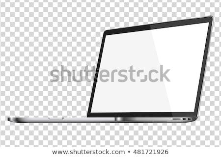 Portable isolement vecteur eps10 affaires ordinateur Photo stock © MPFphotography