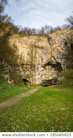 Boğa kaya mağara Çek Cumhuriyeti gökyüzü manzara Stok fotoğraf © Kayco