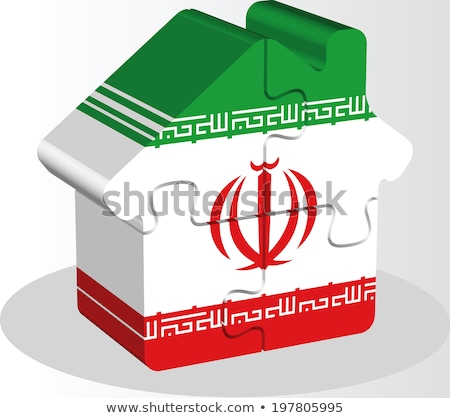 house home icon with iranian flag in puzzle stock photo © istanbul2009