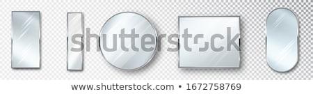 зеркало чистой белый фон интерьер антикварная Сток-фото © c-foto