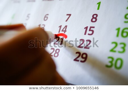 wall calendar with pen and diary closeup Stock photo © mizar_21984
