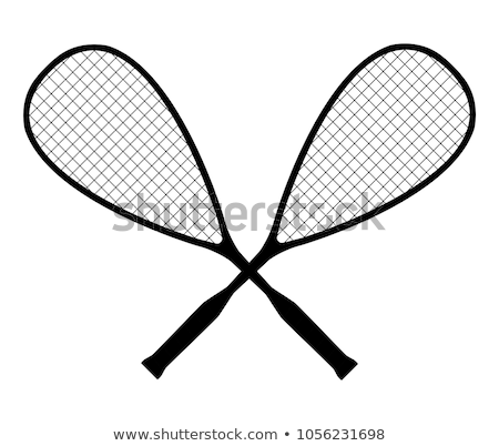siluetleri · vücut · Sunucu · tenis · top · hızlandırmak - stok fotoğraf © Slobelix