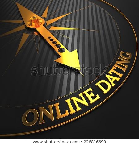 Dating złoty kompas igły czarny dziedzinie Zdjęcia stock © tashatuvango