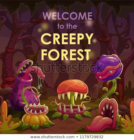 Halloween gonosz szörny hátborzongató lény ijesztő Stock fotó © Lightsource