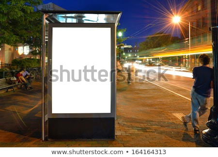 Empty bus shelter with blank poster as copy space Stock photo © stevanovicigor