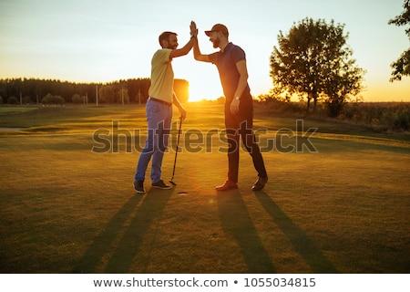 Iyi gün oynama golf gülen güzel Stok fotoğraf © tiKkraf69