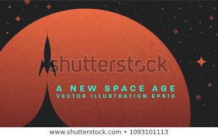 вектора · пространстве · scifi · ретро · ракета · иллюстрация - Сток-фото © Mr_Vector