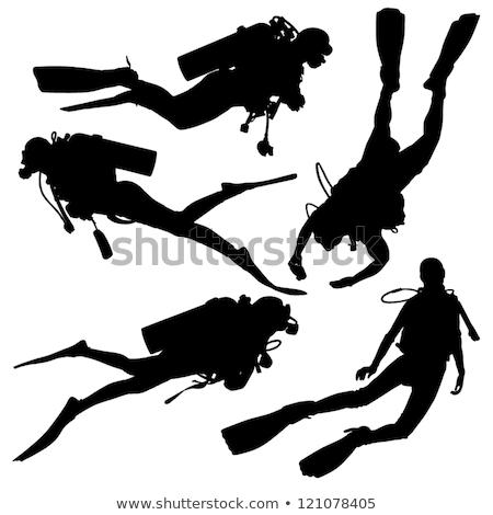 scuba diving silhouettes  Stock photo © Slobelix