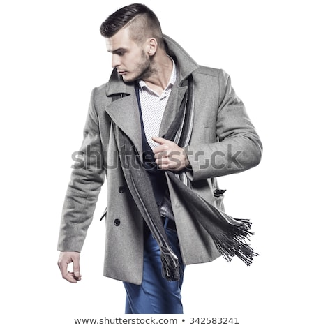 Handsome man - in the autumn-winter collection Stock photo © Geribody