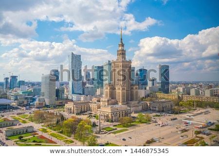 Warschau stad centrum panorama zonnige namiddag Stockfoto © filipw