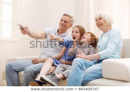 Tv eternidad amarillo aislado blanco cielo Foto stock © gemenacom