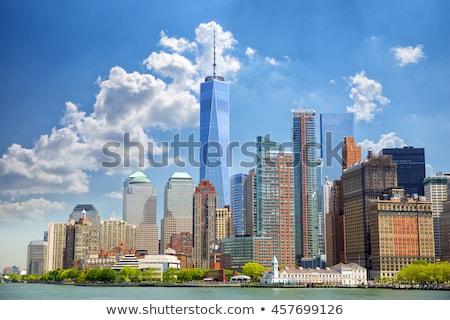 Alsó Manhattan sziluett elem park New York Stock fotó © lunamarina