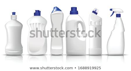 Plástico detergente garrafas isolado branco Foto stock © Antonio-S