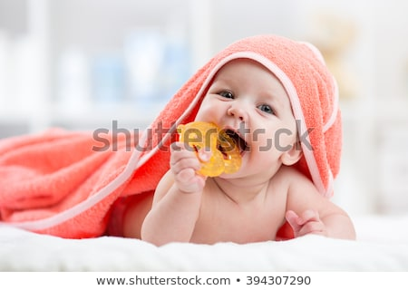 happy baby teething stock photo © nyul
