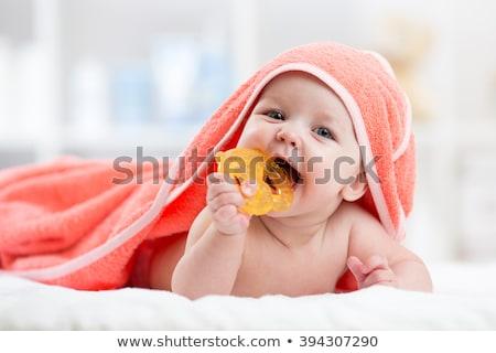 Feliz bebé sesión piso jugando Foto stock © nyul