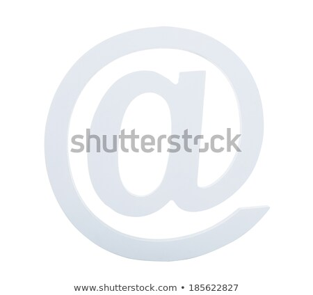 Light grey at sign used in e-mail addresses Stock photo © AndreyPopov