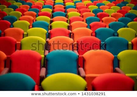 Gehoorzaal afbeelding lege wachten mensen Rood Stockfoto © searagen