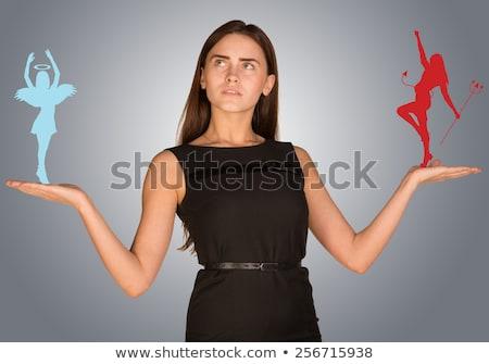 Nő készít választás angyali szeretet művészet Stock fotó © cherezoff