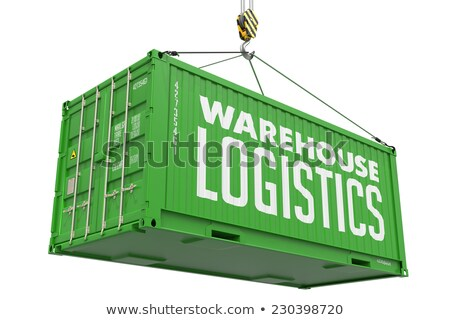 Logistics - Green Hanging Cargo Container. Stock photo © tashatuvango