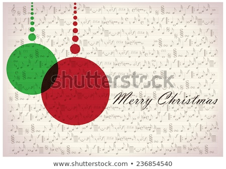 Stock fotó: Christmas Background With Sheet Music