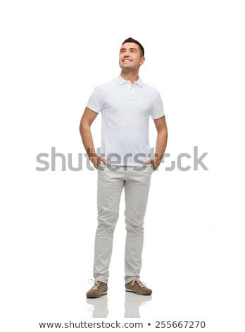 sorridente · homem · mãos · felicidade · pessoas · negócio - foto stock © dolgachov