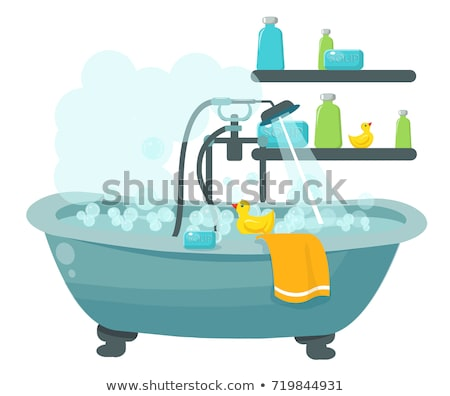 bath tub with rubber ducks stock photo © phbcz