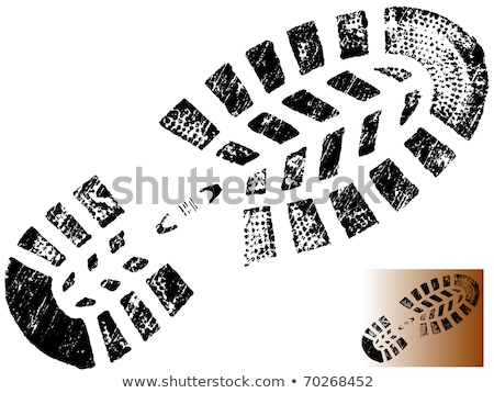 Mountain BootPrint - Highly detailed vector of a bootprint Stock photo © PokerMan