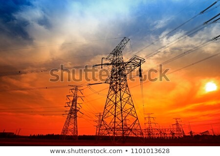 Sunset pylon Stock photo © chris2766
