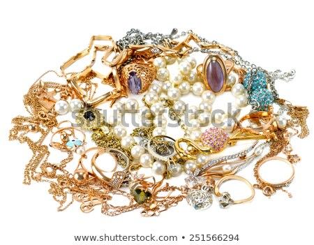 Stock fotó: Pile Of Assorted Silver Chains