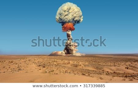 Nuclear explosão céu fumar energia chama Foto stock © -Baks-