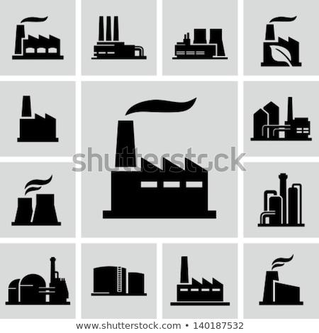 Centrale elettrica icona frecce business arrow Foto d'archivio © WaD