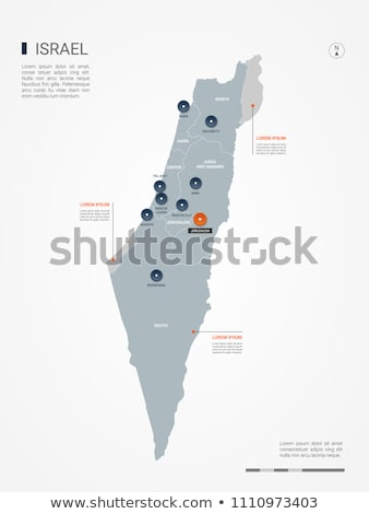 Oranje knop afbeelding kaarten Israël vorm Stockfoto © mayboro