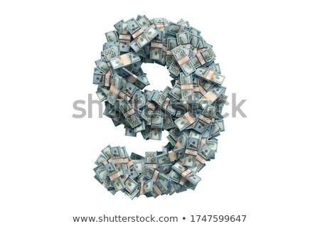 Dollar spärlich eps10 alle Symbole Stock foto © nazlisart