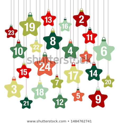 Numbers Counting Square Vector Green Icon Design Set Stock photo © rizwanali3d