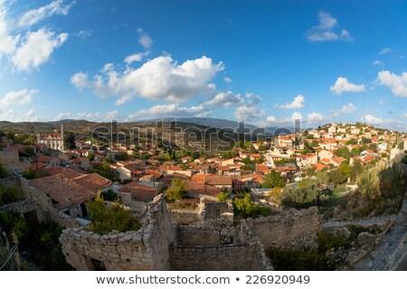 Geleneksel dağ Kıbrıs köy bölge panorama Stok fotoğraf © Kirill_M