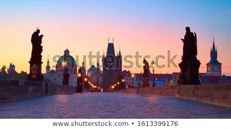 認識できない人々 プラハ 通り 早朝 シルエット 2 ストックフォト © stevanovicigor