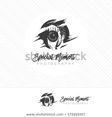 Camera with colorful aperture- photography logo  Stock photo © shawlinmohd