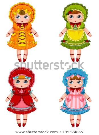 boneca · amarelo · vestir · sessão · areia · menina - foto stock © GeniusKp