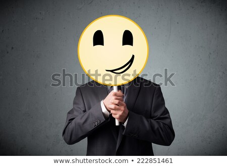 business people with emoticon Stock photo © diego_cervo