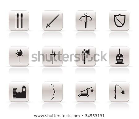 Foto stock: Militar · espada · conjunto · forte · limpar · cor