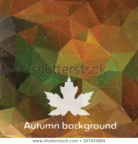 Autumn Triangle Pattern In Dark Colors Vector Background For Web And Mobile Design Stock fotó © mcherevan