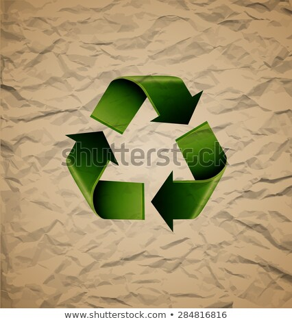 вектора · картона · Recycle · отходов · икона - Сток-фото © netkov1