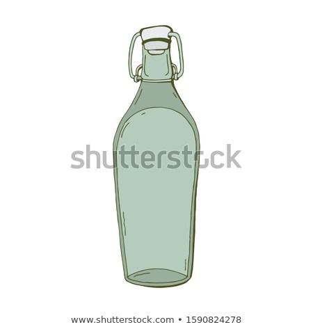 Boş cam şarap yansıma beyaz Stok fotoğraf © kirs-ua