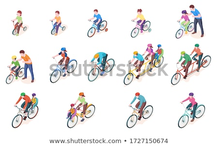 bicyclist - vector Stock photo © Nekiy
