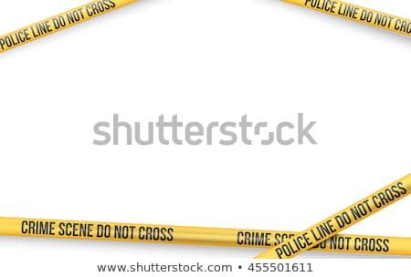 vector · politie · lijn · niet · kruis · tape - stockfoto © bigalbaloo