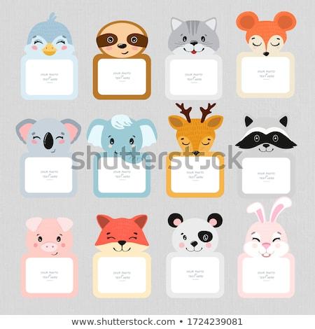 Set of cartoon labels Stock photo © netkov1
