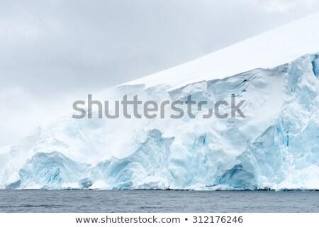 Sluiten gletsjer ijs rotsen Stockfoto © michaklootwijk