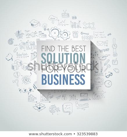 ベスト ソリューション ビジネス スローガン パネル ソフト ストックフォト © DavidArts