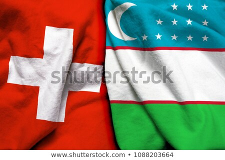 Switzerland and Uzbekistan Flags Stock photo © Istanbul2009
